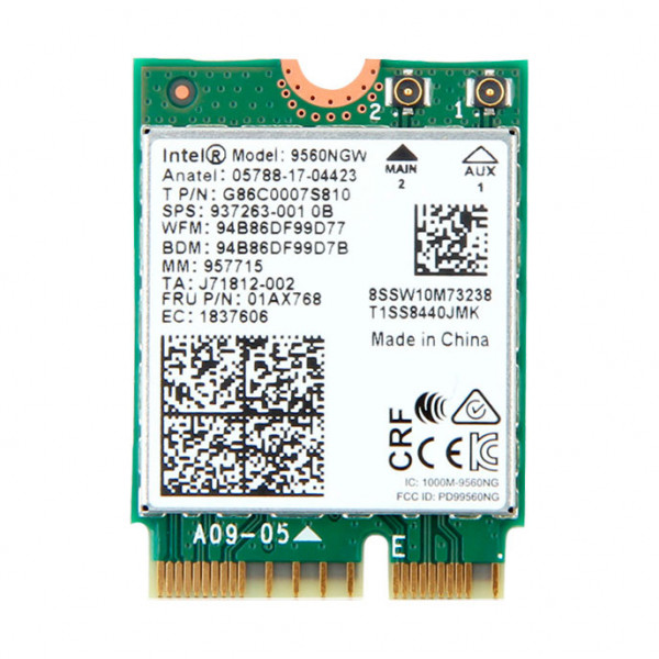 Купить Wi-Fi адаптер Intel Wireless-AC 9560 NGFF 1.73Gbps 802.11ac Bluetooth 5.0 (9560NGW)