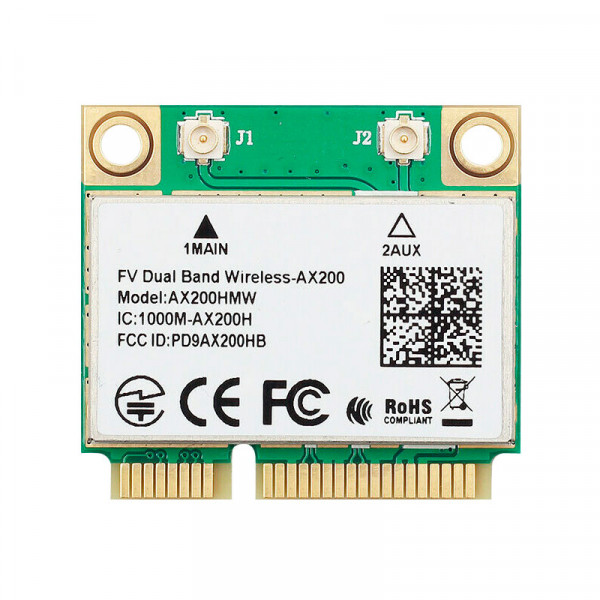 Купить Wi-Fi адаптер Intel Wireless-AC AX200 Mini PCI-e 2.4Gbps 802.11ax (AX200HMW)