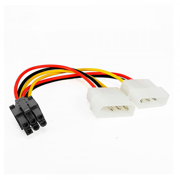 Купить Переходник 2x Molex 4pin to PCI-e 6pin male 18AWG