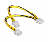 ATX 8pin female to dual 8pin male EPS Power Cable Adapter