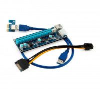 Райзер USB3.0 PCI-E 1x to 16x Extender Riser Card Adapter SATA 60см