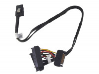 Кабель Dell SFF-8087 Mini-SAS to Dual SFF-8482 SAS Drives cable T3F4V 0T3F4V 018XYD