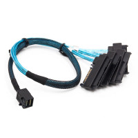 Кабель SFF-8643 Mini-SAS HD to 4 SFF-8482 connectors with SATA Power 0.5m