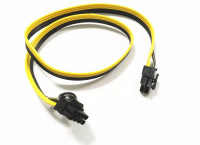 Кабель PCI-e 6pin male to PCI-e 6+2pin male 18AWG 60см